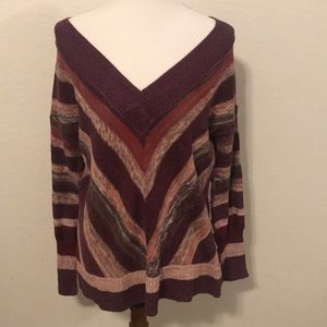 Free People Wide Neck Sweater Small EUC